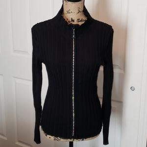 Rhinestone Sweater Jacket